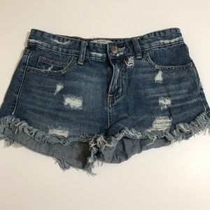Free People Shorts - Free People Distressed Denim Jean Shorts Size 26